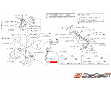 Joint secondaire de réservoir de carburant SUBARU GT 99-00